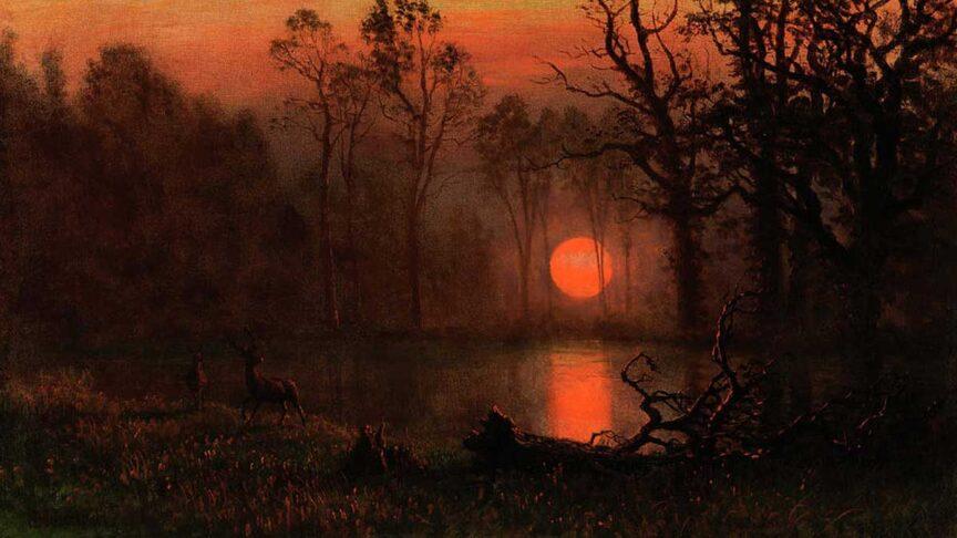 sunset-over-the-plains-albert-bierstadt