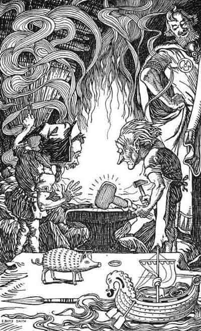 Skidbladnir-norse-mythology