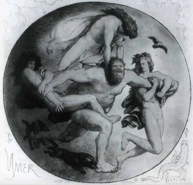 Ymir-gets-killed-by-odin-and-his-brothers-Lorenz-Frolich