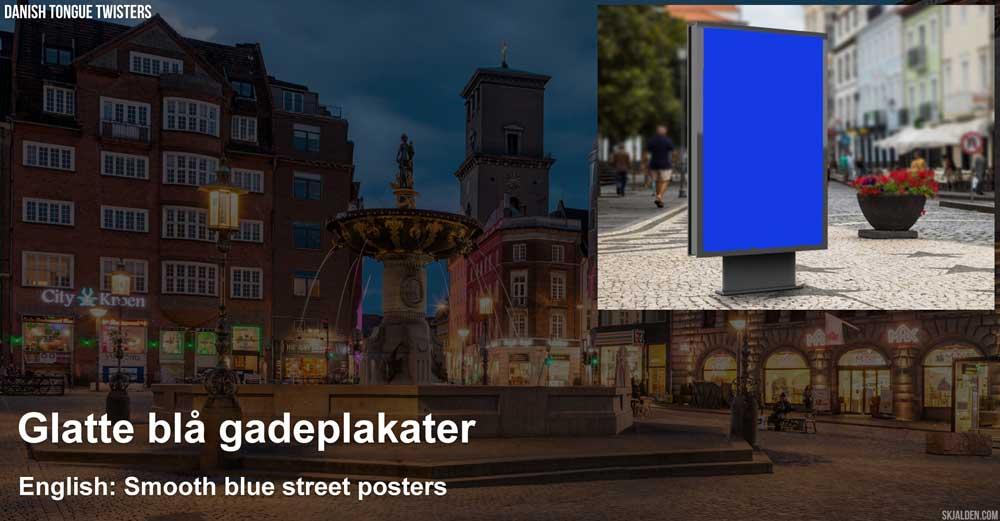 glatte-blaa-gade-plakater